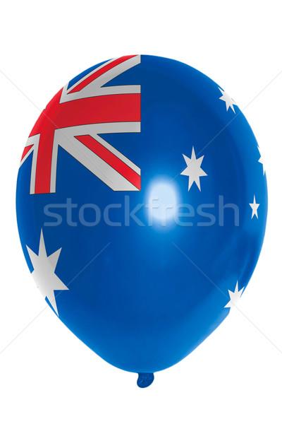 Léggömb színes zászló Ausztrália boldog utazás Stock fotó © vepar5