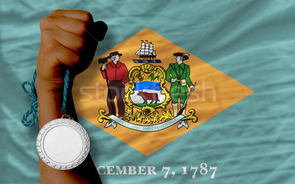 Argent médaille sport pavillon Delaware Photo stock © vepar5