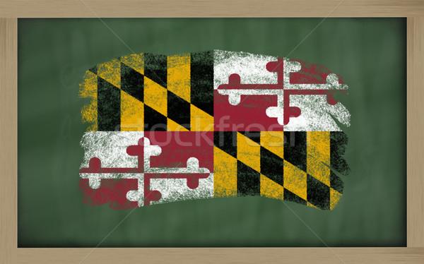 флаг Мэриленд доске окрашенный мелом американский Сток-фото © vepar5