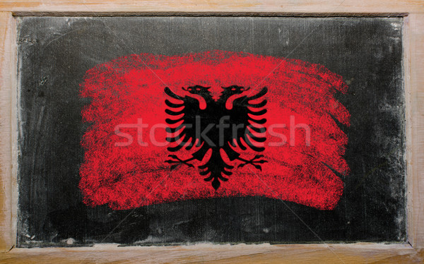 flag of Albania on blackboard painted with chalk   Stock photo © vepar5