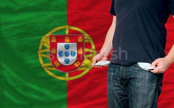 Recessão moço sociedade Portugal pobre homem Foto stock © vepar5