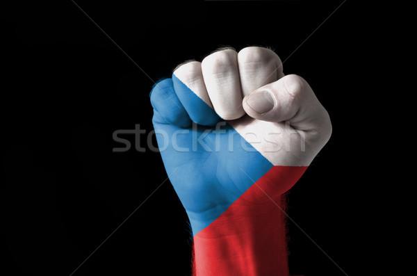 Punho pintado cores tcheco bandeira baixo Foto stock © vepar5