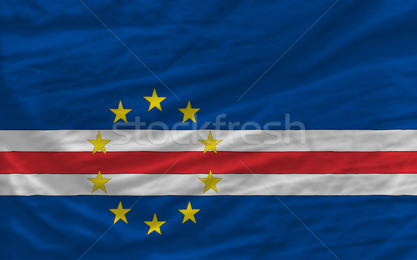 complete waved national flag of  of capeverde for background   Stock photo © vepar5
