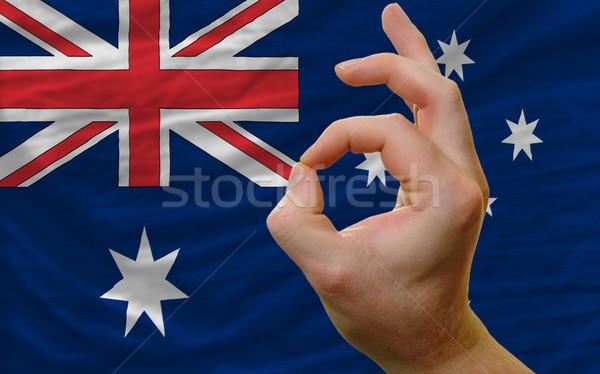 Gesto Australia bandera hombre Foto stock © vepar5