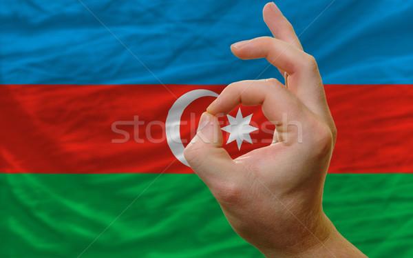 Gesto Azerbaijão bandeira homem Foto stock © vepar5