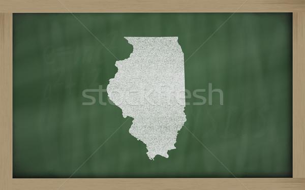 карта Иллинойс доске рисунок доске Сток-фото © vepar5