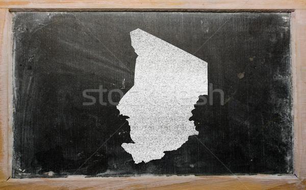 Mapa Chad pizarra dibujo Foto stock © vepar5