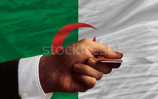Zdjęcia stock: Zakupu · karty · kredytowej · Algieria · człowiek · na · zewnątrz