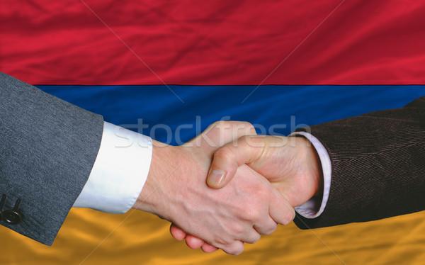 ビジネスマン ハンドシェーク 良い 契約 アルメニア フラグ ストックフォト © vepar5