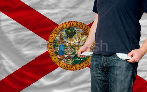 Stockfoto: Recessie · jonge · man · samenleving · Florida · arme · man