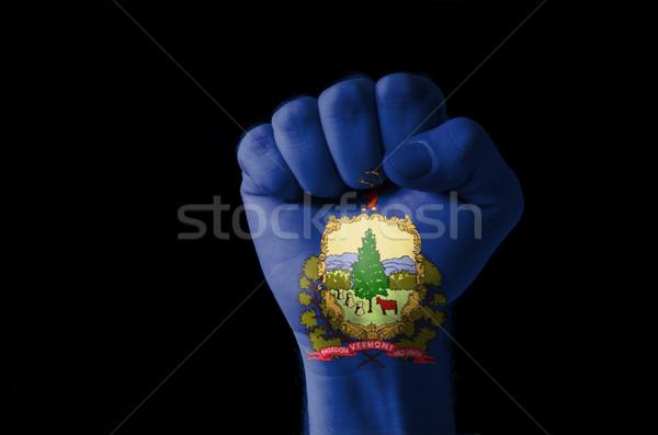 Punho pintado cores Vermont bandeira baixo Foto stock © vepar5