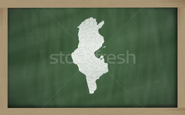 Mapa Túnez pizarra dibujo Foto stock © vepar5