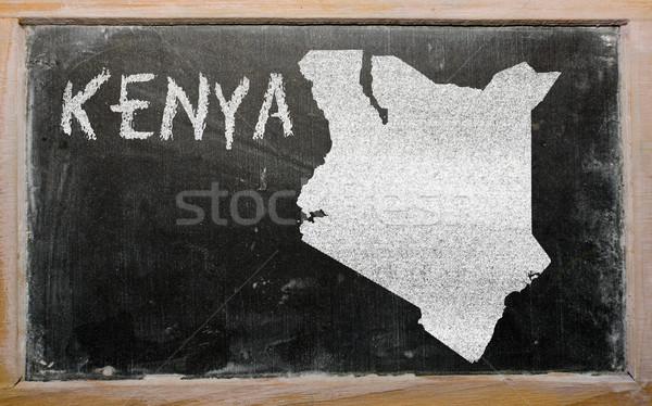 地図 ケニア 黒板 図面 ストックフォト © vepar5
