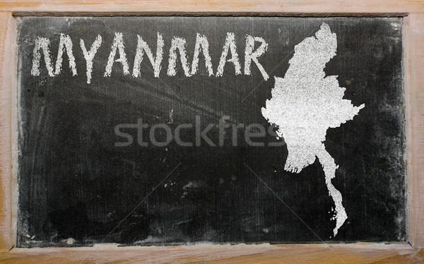 карта Мьянма доске рисунок Сток-фото © vepar5