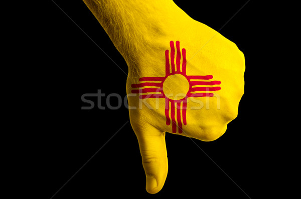 new mexico us state flag thumbs down gesture for failure made wi Stock photo © vepar5