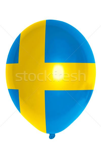 Pallone colorato bandiera Svezia felice viaggio Foto d'archivio © vepar5