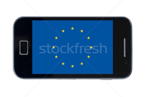 Bandera Europa teléfono Internet teléfono Foto stock © vepar5