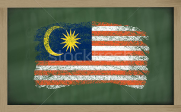 national flag of malaysia on blackboard painted with chalk Stock photo © vepar5