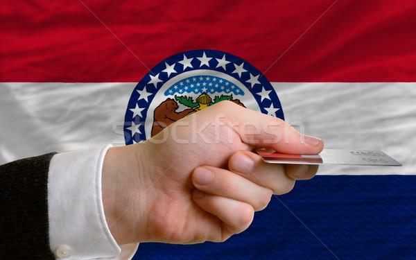 Compra cartão de crédito Missouri homem fora Foto stock © vepar5