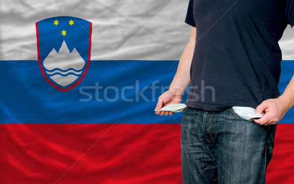 recession impact on young man and society in slovenia Stock photo © vepar5