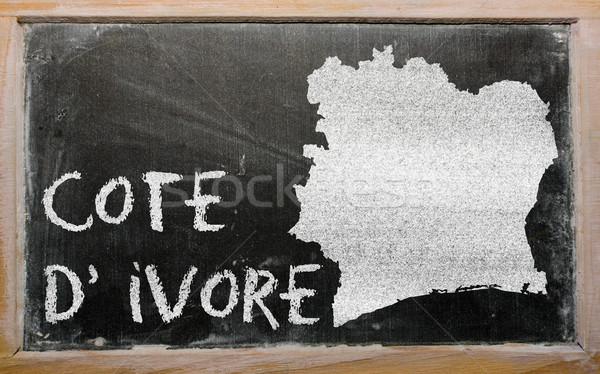 Mapa Costa de Marfil pizarra dibujo Foto stock © vepar5