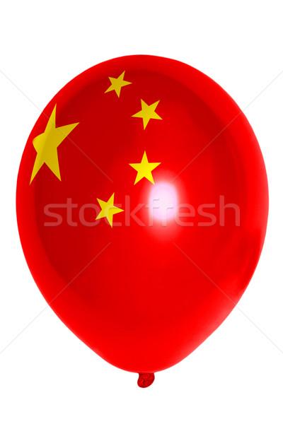 Stockfoto: Ballon · gekleurd · vlag · China · gelukkig · reizen