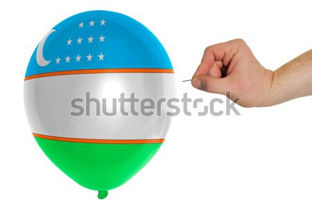 Bursting balloon colored in  national flag of botswana    Stock photo © vepar5
