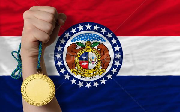 Médaille d'or sport pavillon Missouri gagnant Photo stock © vepar5