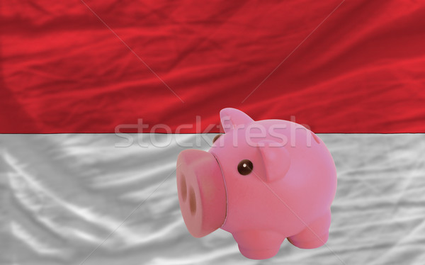piggy rich bank and  national flag of indonesia    Stock photo © vepar5