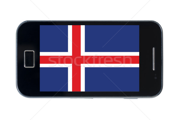smartphone national flag of iceland    Stock photo © vepar5