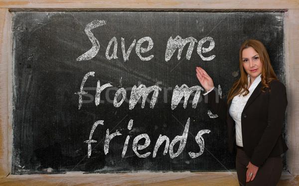 öğretmen kurtarmak bana benim tahta Stok fotoğraf © vepar5