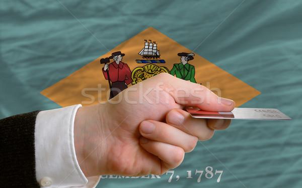 Stockfoto: Kopen · creditcard · Delaware · man · uit