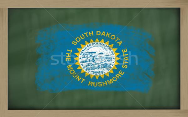 Stock fotó: Zászló · Dél-Dakota · iskolatábla · festett · amerikai · szín