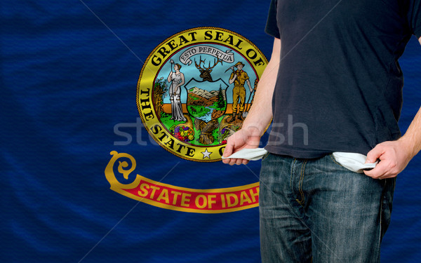 recession impact on young man and society in idaho Stock photo © vepar5