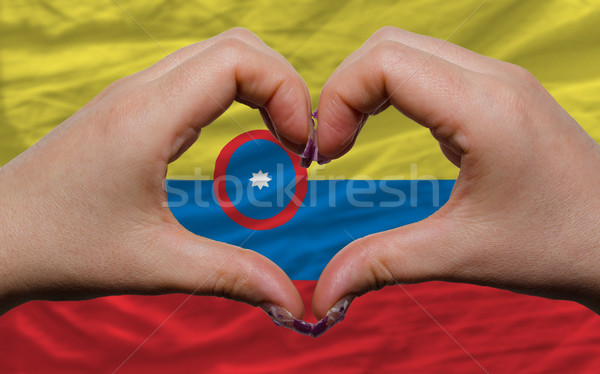 флаг Колумбия сердце любви жест ума Сток-фото © vepar5