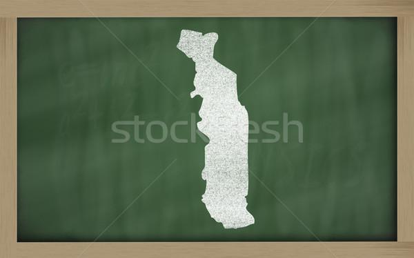 Contorno mappa Togo lavagna disegno Foto d'archivio © vepar5