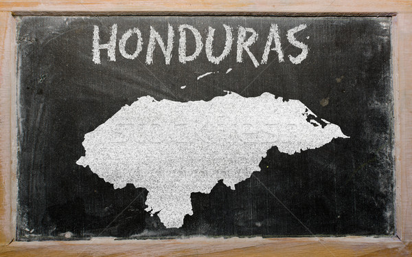 Carte Honduras tableau noir dessin Photo stock © vepar5