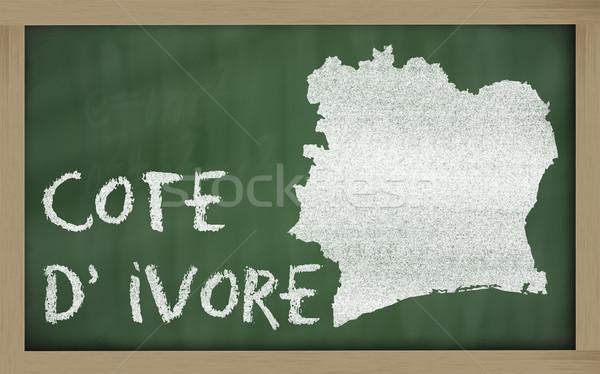 Pokaż Wybrzeże Kości Słoniowej tablicy rysunek Zdjęcia stock © vepar5