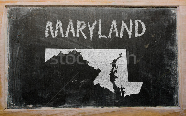 outline map of us state of maryland on blackboard  Stock photo © vepar5