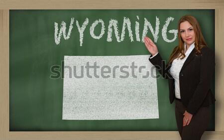 Schets kaart North Dakota Blackboard tekening schoolbord Stockfoto © vepar5