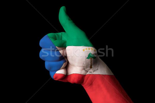 Guinea Ecuatorial bandera pulgar hasta gesto excelencia Foto stock © vepar5