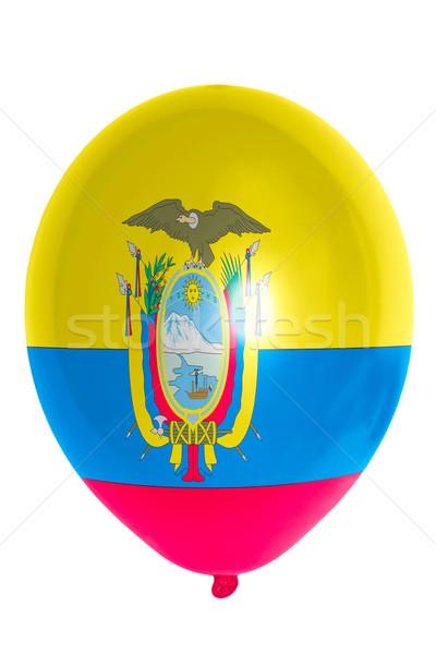 Balloon colored in  national flag of ecuador    Stock photo © vepar5