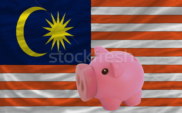 piggy rich bank and  national flag of malaysia    Stock photo © vepar5