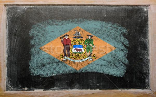 Stockfoto: Vlag · Colorado · Delaware · geschilderd · krijt · amerikaanse