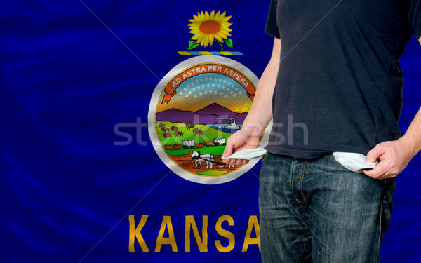 recession impact on young man and society in american state of k Stock photo © vepar5