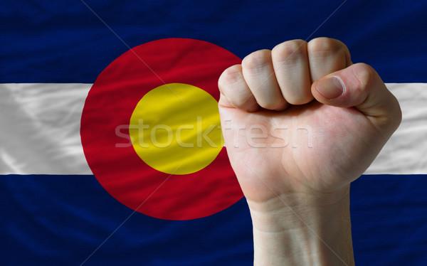 флаг Колорадо кулаком полный американский все Сток-фото © vepar5