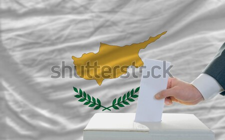 complete waved national flag of cyprus for background   Stock photo © vepar5