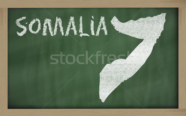 Schets kaart Somalië Blackboard tekening Stockfoto © vepar5