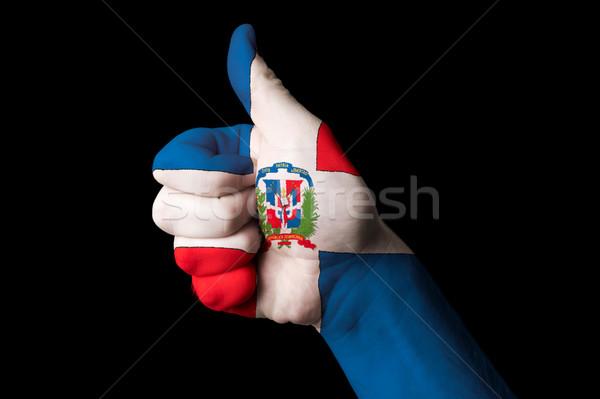 Bandiera pollice up gesto eccellenza mano Foto d'archivio © vepar5