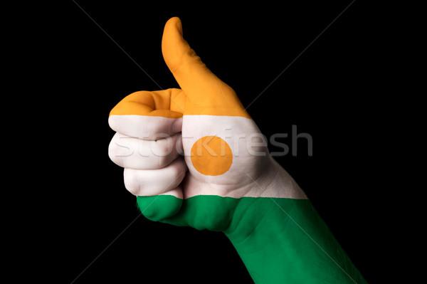 Níger bandera pulgar hasta gesto excelencia Foto stock © vepar5